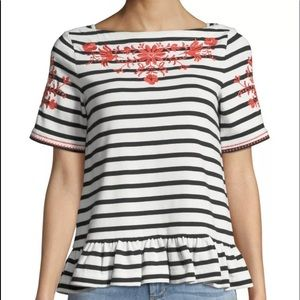 Kate Spade ♠️ Broome Street Embroidered Top